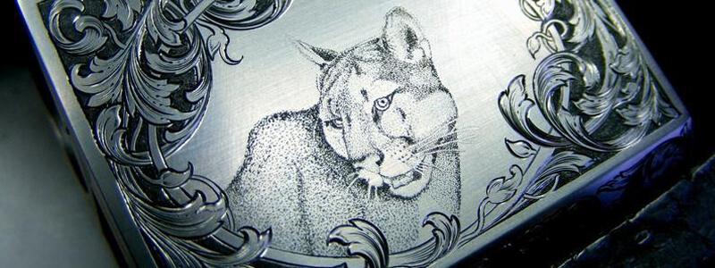 Гравировка рисунка лазером на металле