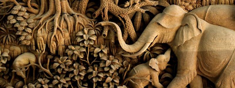 Деревянное панно фрезеровка